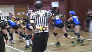 Angel City Derby Girls(ACDG female flat track roller derby bout): Scarlets vs Santa Cruz(8/13/11) #5
