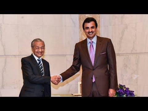Qatar's Emir and Malaysia's PM hold talks