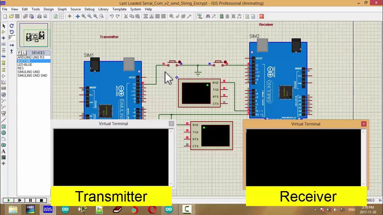 Transmition Encrypt and Decrypt Code in Arduino