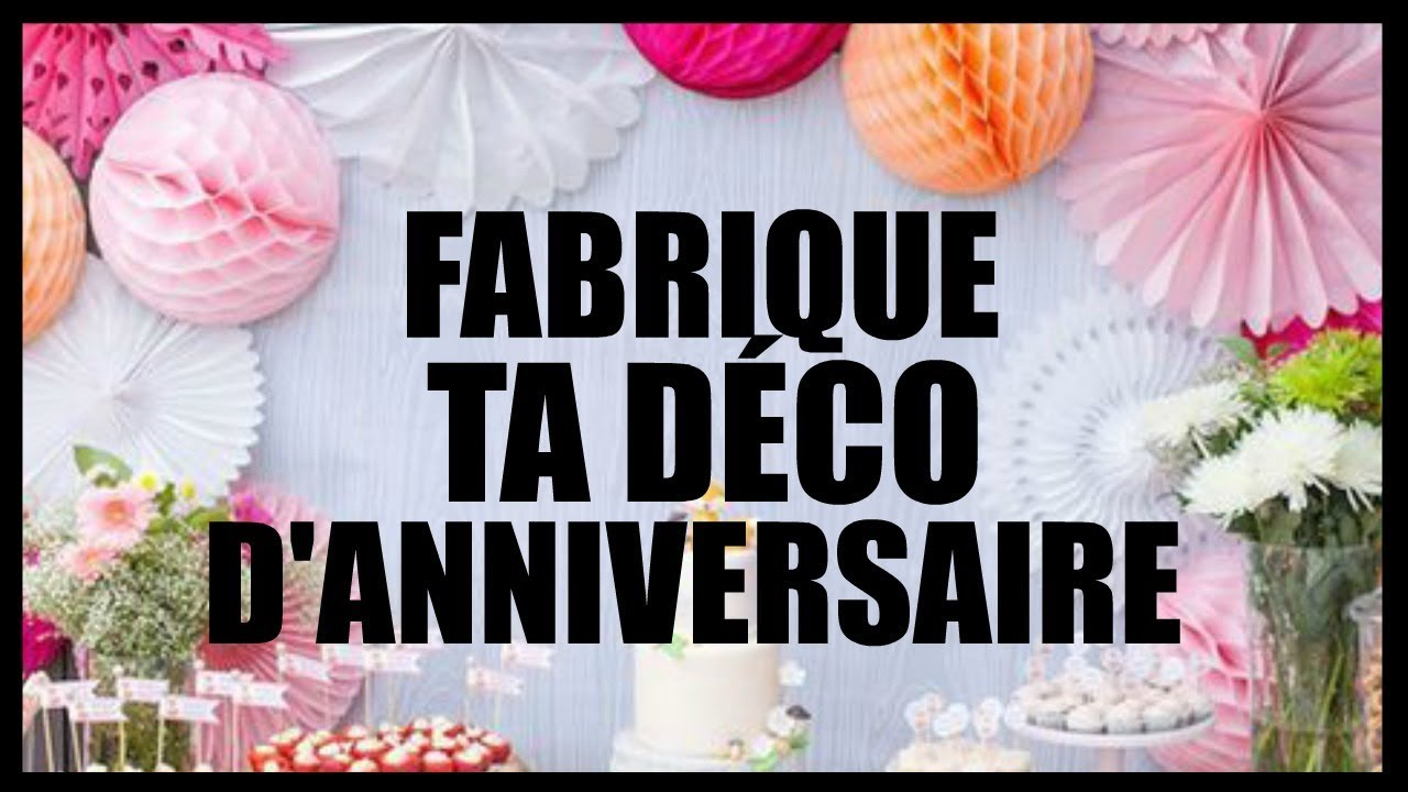 5 diy d co f te d 39 anniversaire pour pas ch re en fran ais. Black Bedroom Furniture Sets. Home Design Ideas
