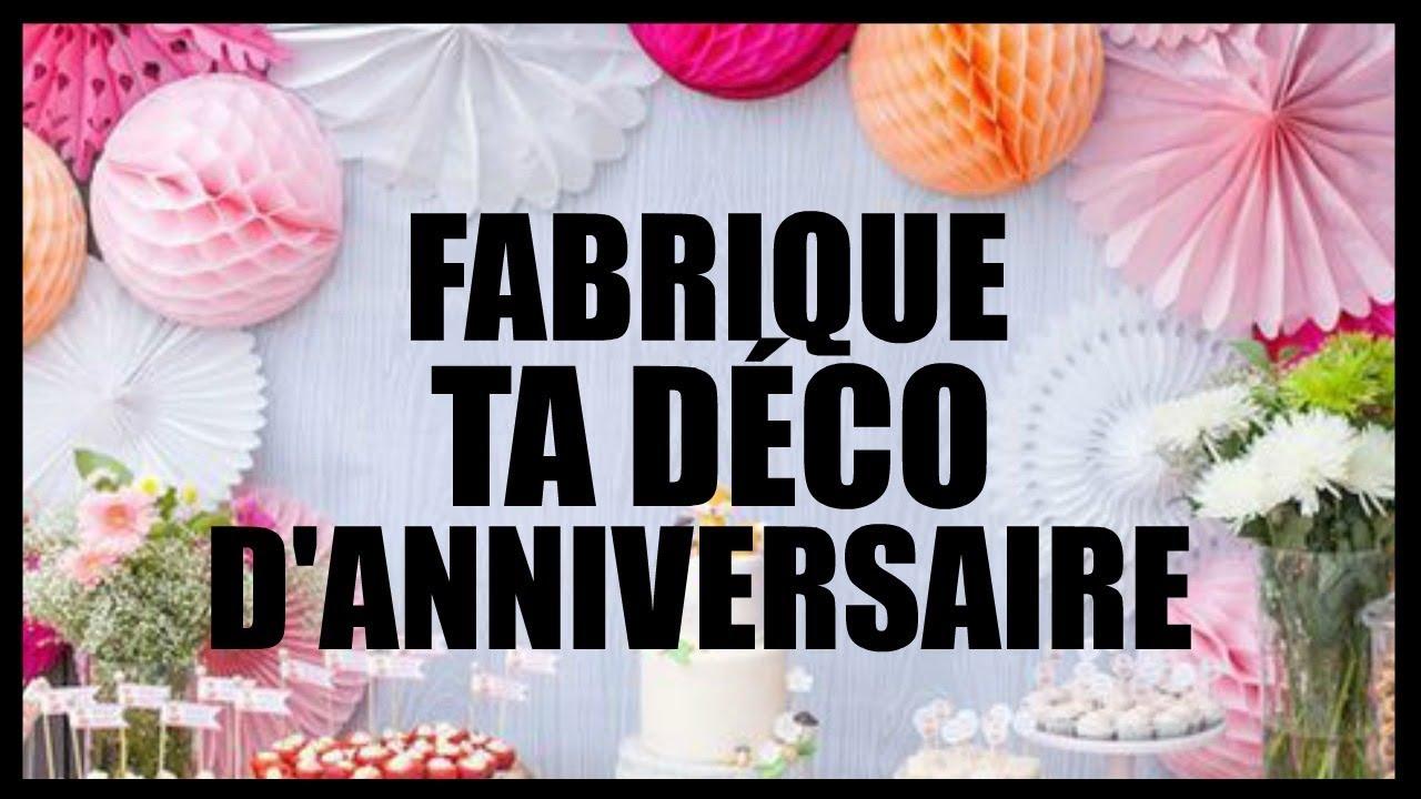 5 Diy Déco Fête D Anniversaire Pour Pas Chère En Français
