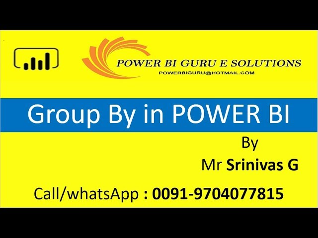 Group by in Power BI | Power BI Training from Power Bi Guru | Power Bi tutorial for Beginners