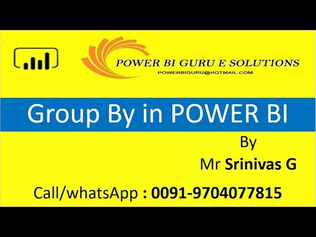 Group by in Power BI | Power BI Training from Power Bi Guru | Power Bi tutorial for Beginners
