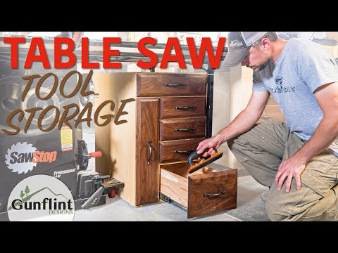 Table Saw Cabinet - DIY Tool Storage