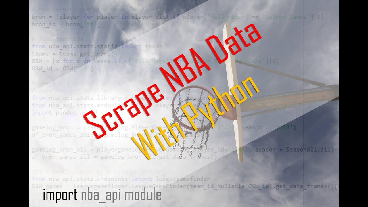 How to Scrape NBA Data Using the nba_api Python Module