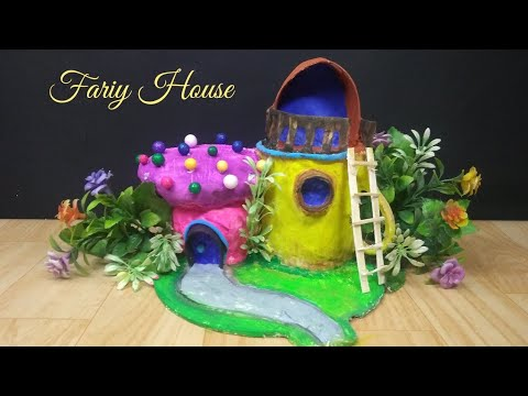 How to make Fairy House at home | best out of waste | reuse tea cup | DIY fairy house