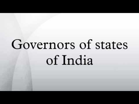 Governors of states of India
