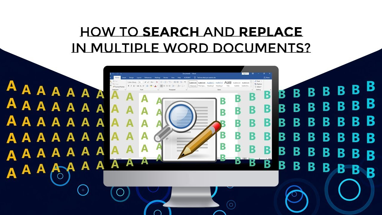Search & Replace words from MS word files - Theskysoft