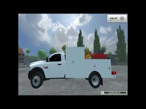 Ram 5500 Service/Lube Truck mod Farming Simulator