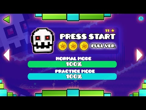 PRESS START FULL VERSION!! - GEOMETRY DASH 2.11!!
