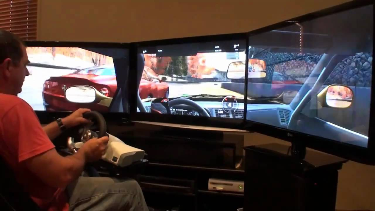 Forza 3 Triple Screen With 3x42 Inch Tvs Youtube