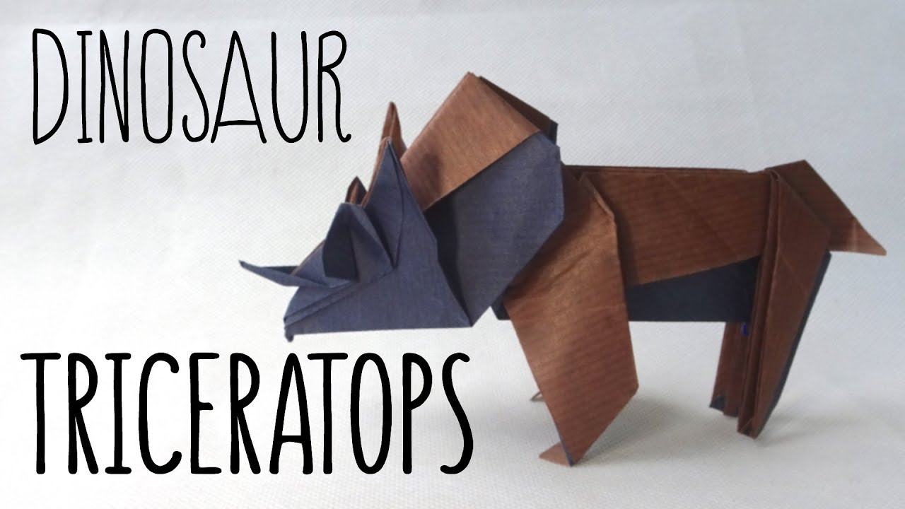 Origami Triceratops Anh Dao Diagram Youtube