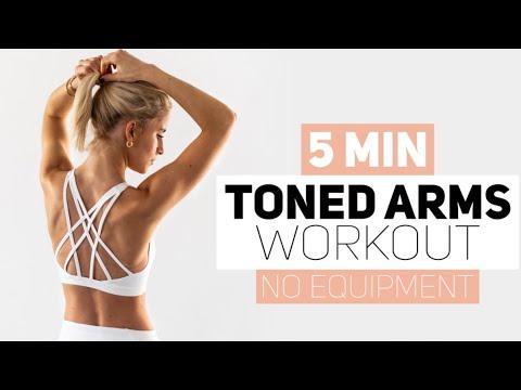 Download 5 MINUTES TONED ARMS WORKOUT | no equipment | Caro Daur #DAURPOWER