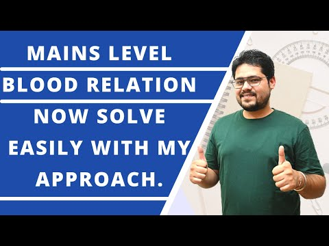 BLOOD RELATION || MAINS LEVEL || MY APPROACH TO SOLVE IN EXAM || 100 % EFFECTIVE