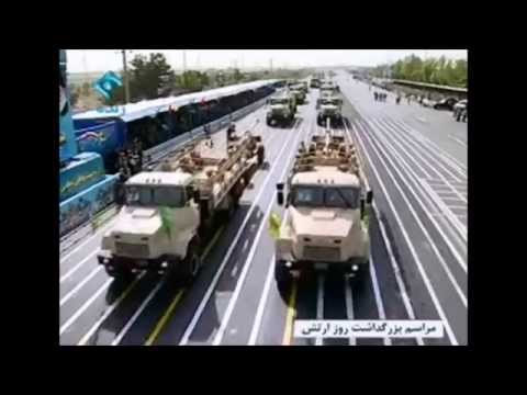 Iran national Army day  parade on 18 April 2015  رژه 29 فرور