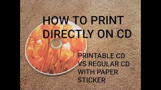how to print directly on cd