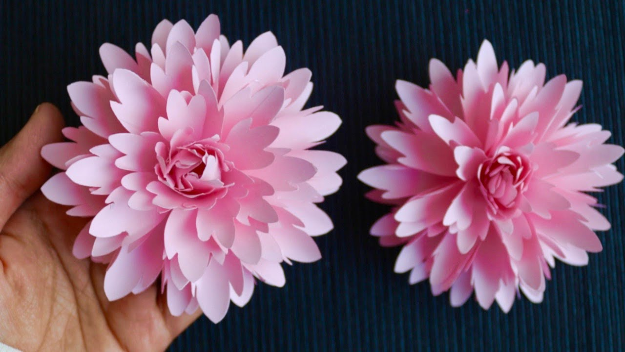 How To Make Paper Flower - Paper Craft - DIY Flower - DIY Paper Flower