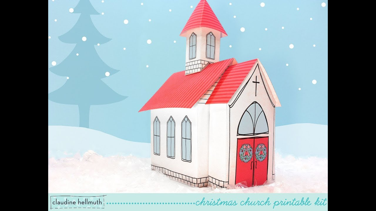 Make A Paper Christmas Church Candy Treat And Cookie Box