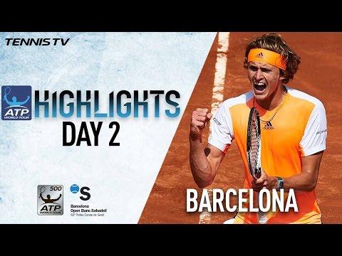 Highlights: Thiem, #NextGenATP Zverev Advance On Tuesday In Barcelona