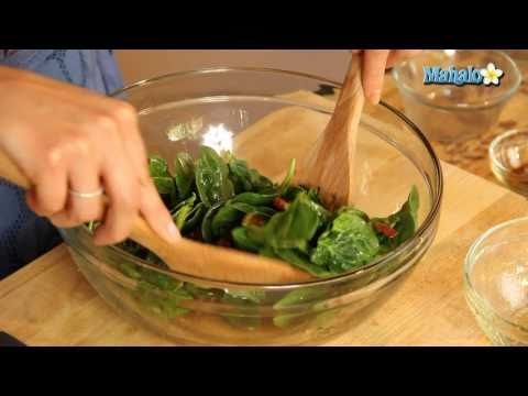 How To Make Spinach Salad With Bacon And Orange Vinaigrette