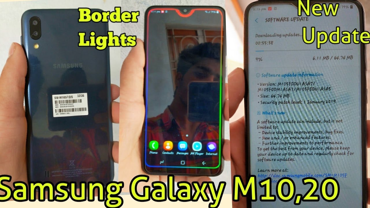 Border light & New Update In Samsung Galaxy M10, M20 by Wahid Technical