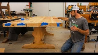 AR1:  Building a trestle table from reclaimed white pine
