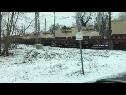 01/09/17 US Army moving Tanks to Eastern Europe via Railroad
