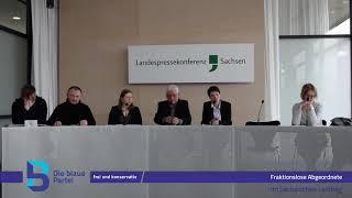 2018 03 20 PK der fraktionslosen Abgeordneten im Sächsischen Landtag zum Thema Wölfe in Deutschland
