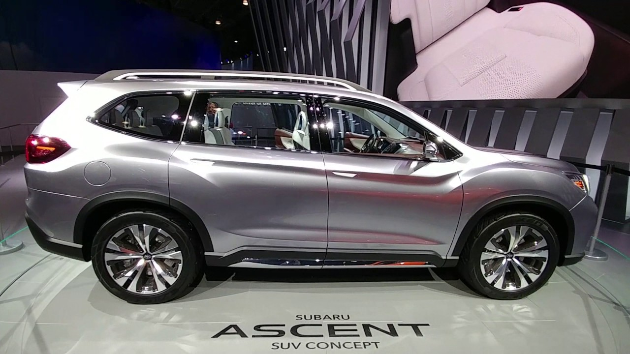 Suv With Third Row >> Subaru Ascent Concept Suv Third Row Seating Review