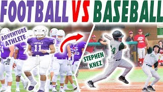 Day In The Life of A College Baseball Player VS Day In The Life of A College Football Player