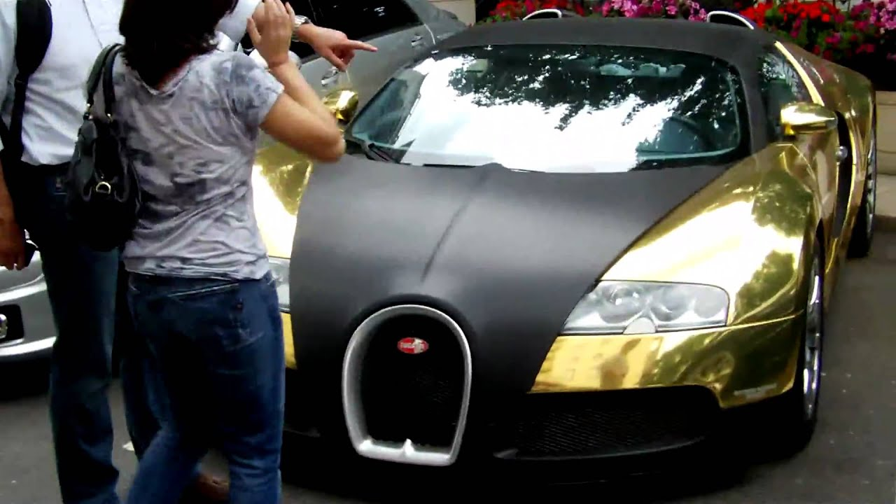 Bill Gates Cars >> GOLD AND MATT BLACK VEYRON (DUBAI SUPERCAR) - LONDON SUPERCARS - YouTube