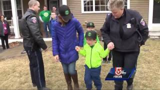 Boy battling cancer named police chief for a day!