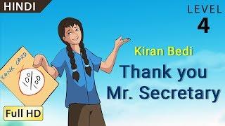 "Kiran Bedi, Thank you Mr Secretary: Learn Hindi - Story for Children ""BookBox.com"""