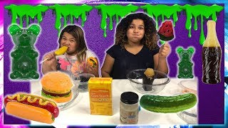 DIY EDIBLE GIANT GUMMY SLIME - MAKING SLIME WITH OUR GIANT GUMMIES