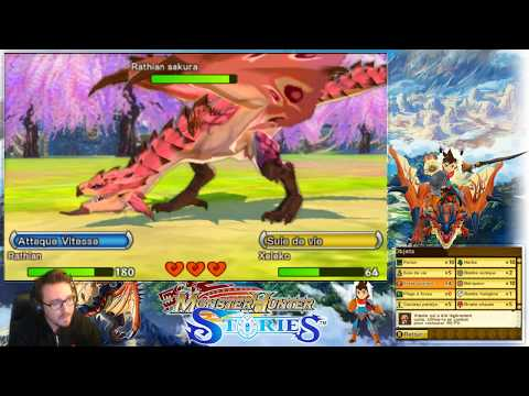 Rathian Sakura VS Xeleko - Combat Monster Hunter Stories