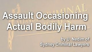 Assault Occasioning Actual Bodily Harm