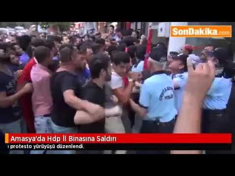 amasyada hdp il binasına saldırı ensonhaber24