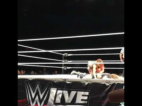 Ember Moon Eclipse on Sarah Logan at WWE Jackson Mississippi