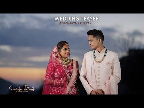 WEDDING TEASER 2021|| AISHWARYA U0026 DEEPAK|| NAVDISHA PORTRAITS CINEMATOGRAPHY |7018242280, 9418151166