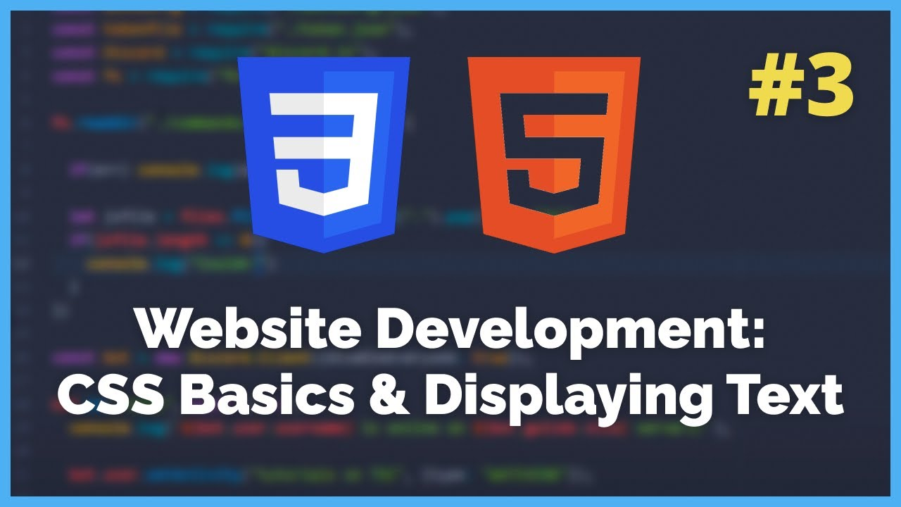 Basic CSS Styling and Displaying Text - HTML/CSS Tutorial
