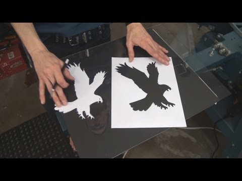How To Screen Print T Shirts Using Hand Cut Paper Stencils