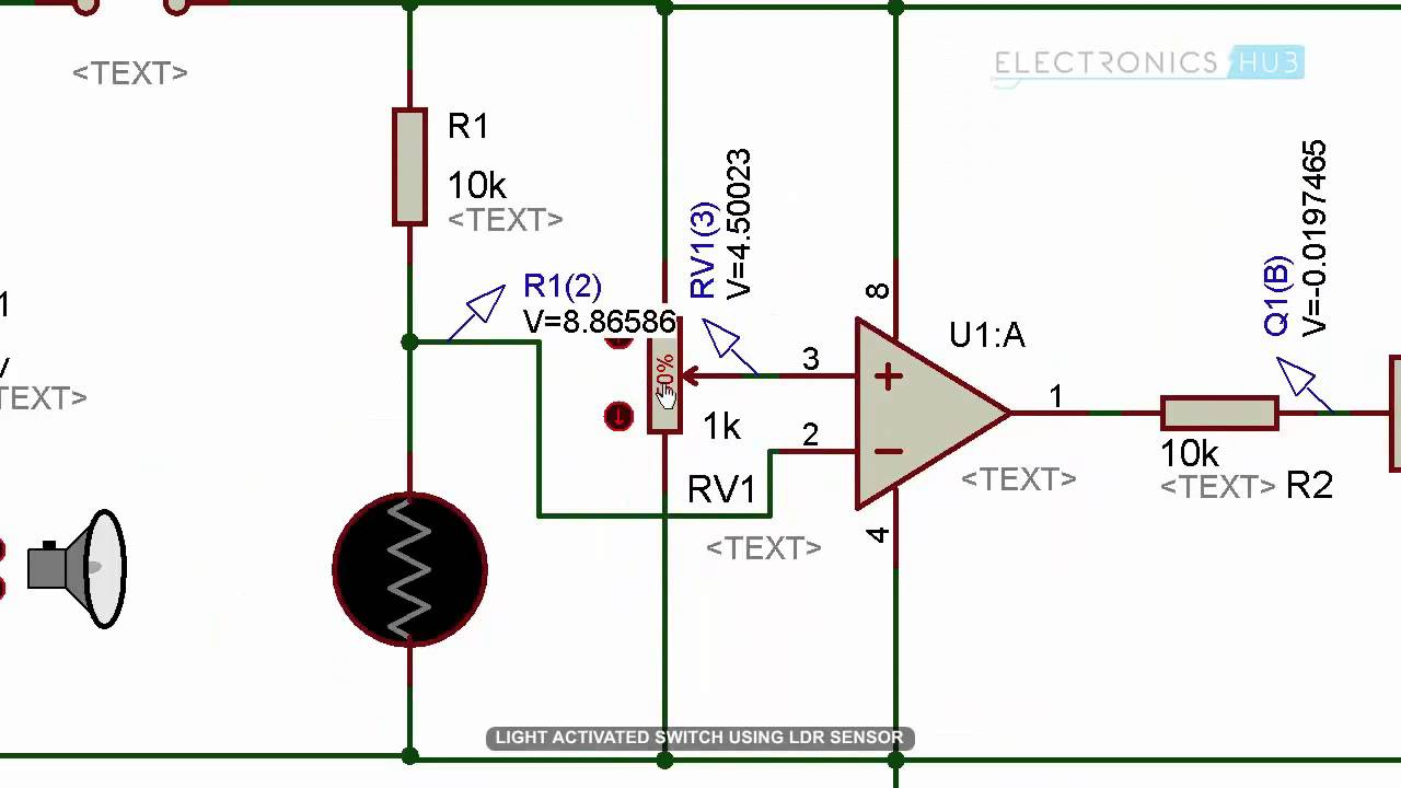 this is the circuit diagram of a light activated switch based on light activated switch circuit [ 1280 x 720 Pixel ]