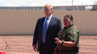 President Trump Visits the New Border Wall in Calexico, California.