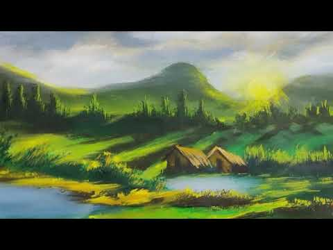 Beautiful Painting ! (Acrylic Landscape Painting)  demo video Episode 115