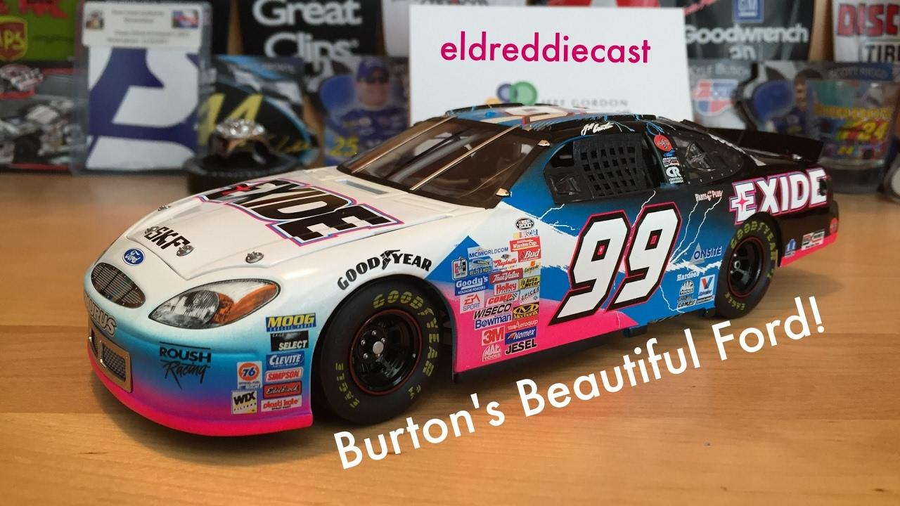 Jeff Burton 2000 Exide Batteries Ford Taurus 1 24 Scale Nascar Cast Review Eldredcast