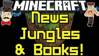 Minecraft News JUNGLE BIOME , Climbing Vines & Writeable Books !