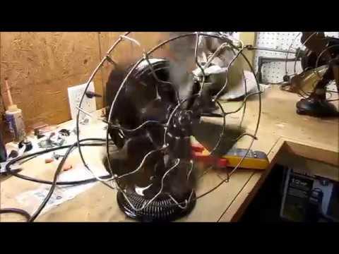 Run antique 133 / 125 Hz desk fan with VFD!