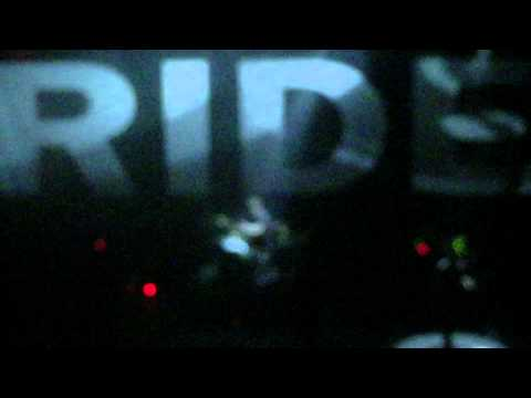 """Ride performing """"Drive Blind"""" in Pomona, CA on April 14, 2015."""