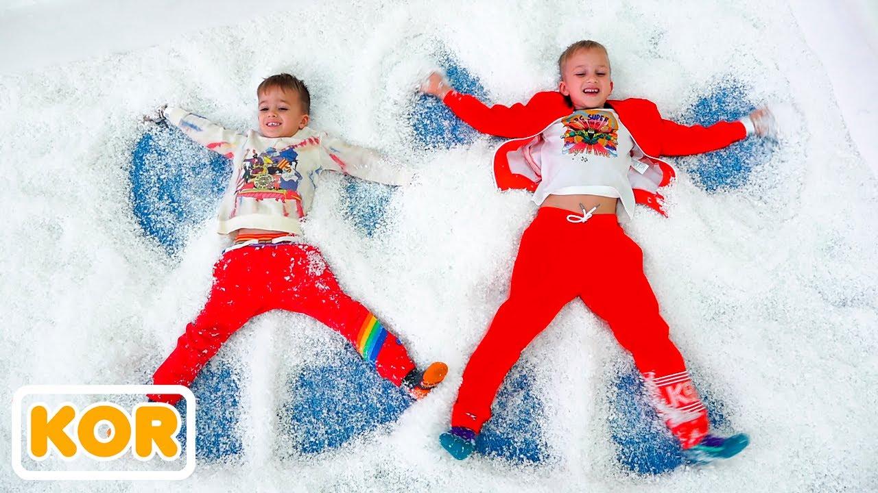 블라드와 니키 겨울 놀이 센터와 아이들을위한 더 재미있는 이야기