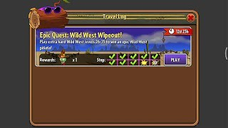Epic Quest: Wild West Wipeout - Day 31, 32, 33, 34 - Plants vs. Zombies 2